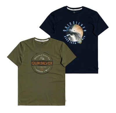 Quiksilver Print-Shirt »OCEAN OF NIGHT« (Packung, 2-tlg., 2er-Pack)