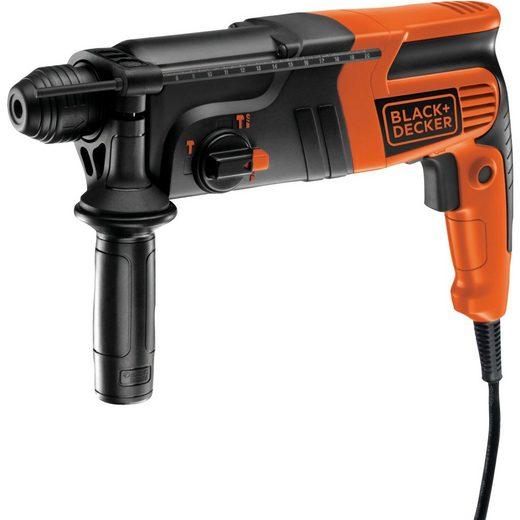 Black + Decker Bohrhammer »Bohrhammer KD855KA, im Koffer, 550 Watt«