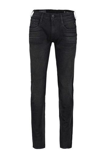 Replay Stretch-Jeans »12 Oz Hyperflex Bi-Stretch Black Denim«