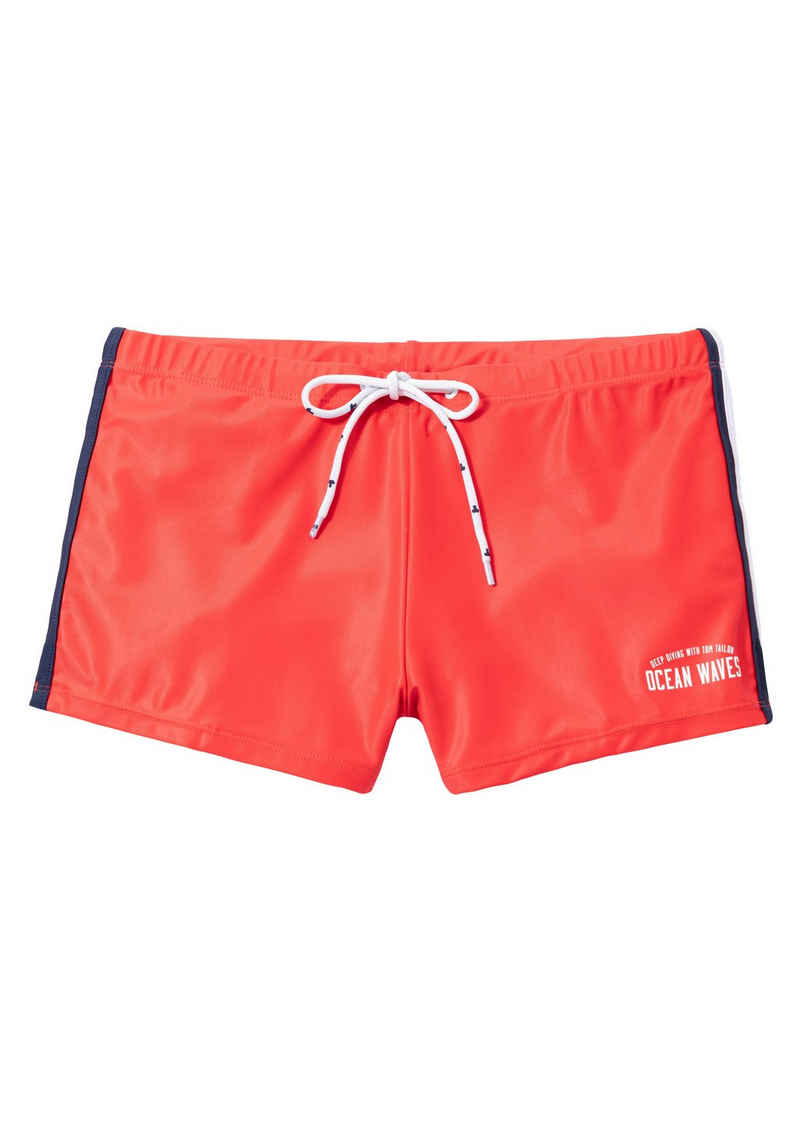 TOM TAILOR Boxer-Badehose, in trendigen Unifarben