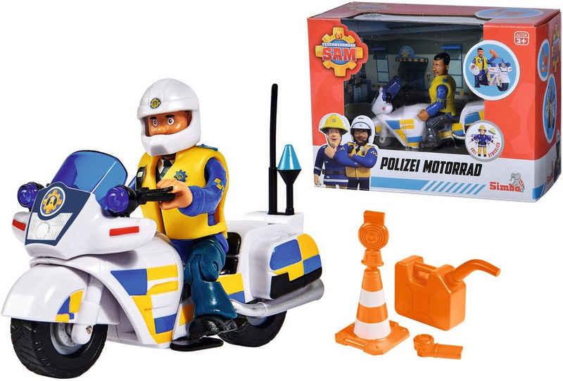 SIMBA Spielzeug-Motorrad »Feuerwehrmann Sam, Polizei Motorrad mit Figur«