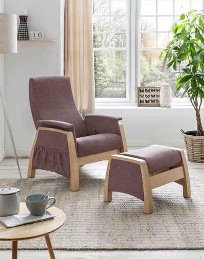 Home affaire Relaxsessel »Torge«, mit Schaukelfunktion und Schaukelhocker, Rückenlehne 3fach verstellbar