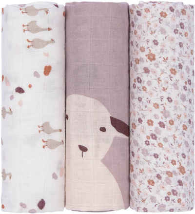 Lässig Stoffwindeln »Flowers lilac« (Set, 3-St), PETA-approved vegan