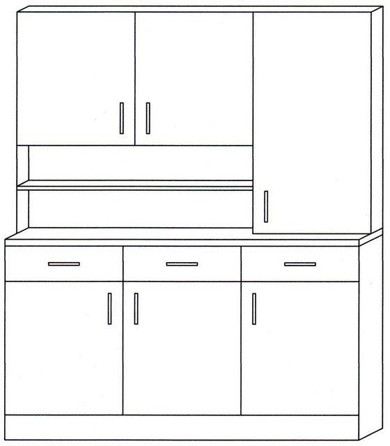 Vitrinen und Schränke - Küchenbuffet »Prag«, Breite 150 cm  - Onlineshop OTTO