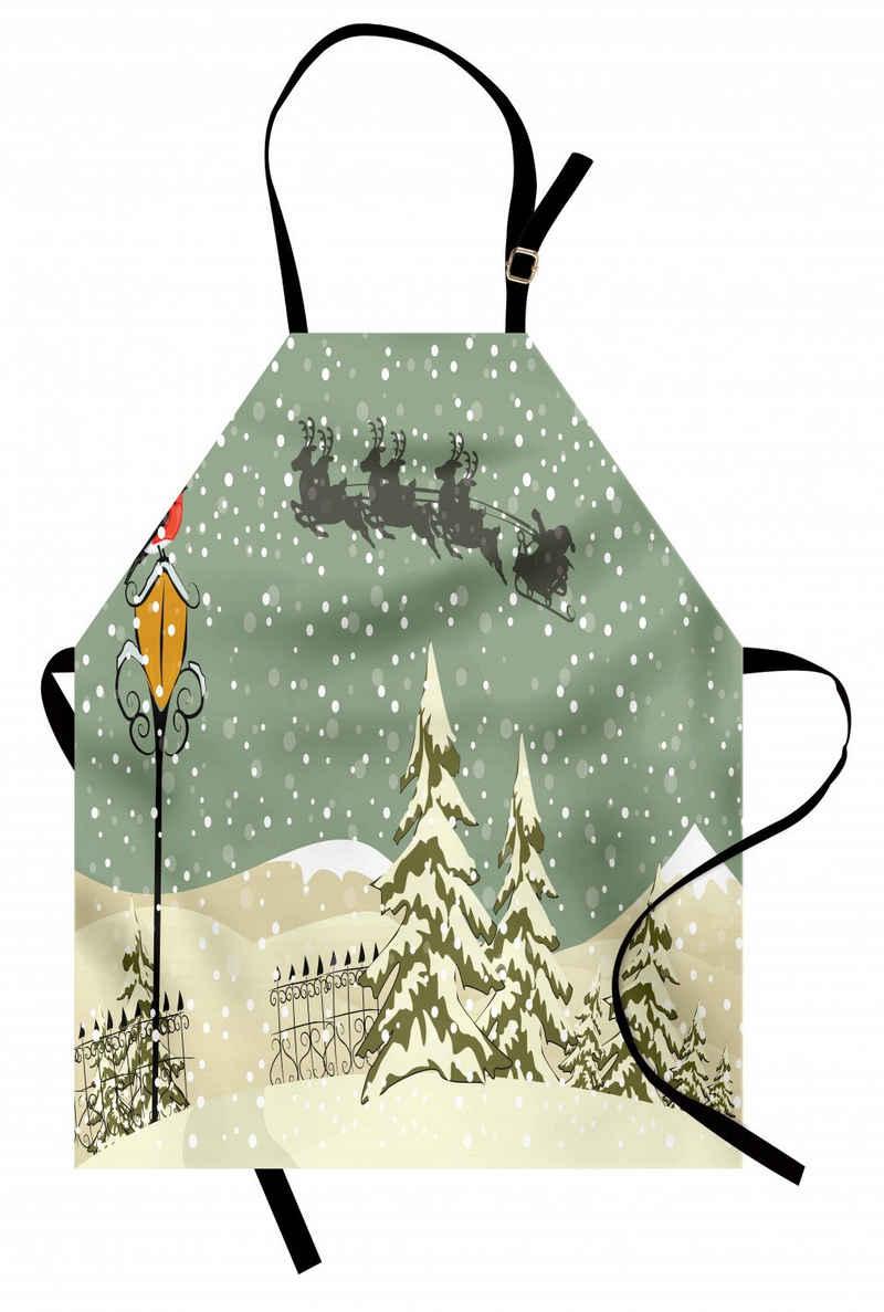 Abakuhaus Kochschürze »Höhenverstellbar Klare Farben ohne verblassen«, Weihnachten Weihnachtsmann-Ren