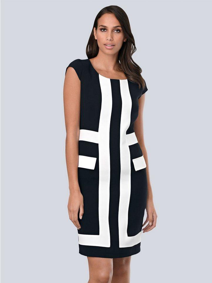 Festtagsmode - Alba Moda Kleid mit kontrastfarbenen Blenden im Vorderteil › blau  - Onlineshop OTTO