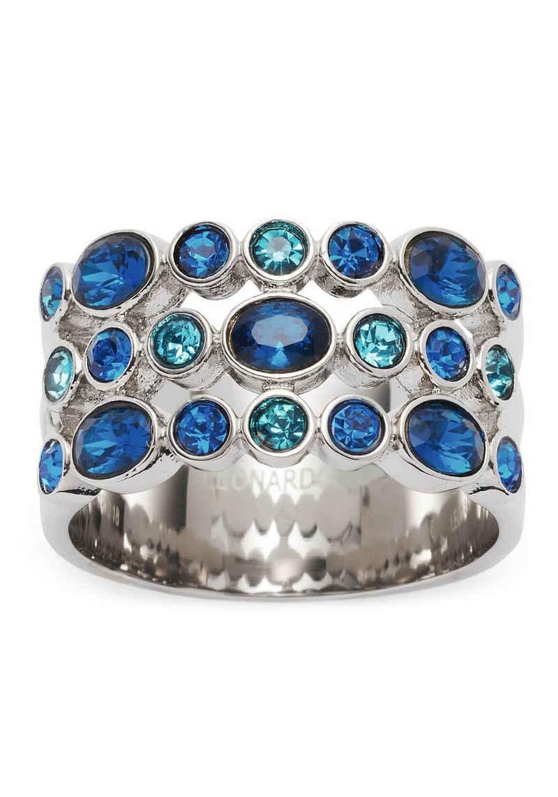 LEONARDO Fingerring »Ring Arabella, 018385, 018386, 018387, 018388«, mit Glasstein