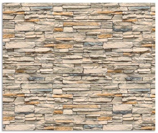 Artland Küchenrückwand »Braune alte Ziegelmauer«, (1-tlg)