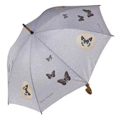 Goebel Stockregenschirm »Grey Butterflies Stockschirm Artis Orbis«