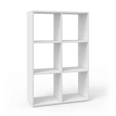 Vicco Raumteiler »Bücherregal Standregal Aktenregal Regal 6 Fächer Weiß«