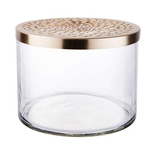 BUTLERS Vorratsdose »CADENZA Dose mit Ornamentdeckel Höhe 14cm«, Glas, Eisen