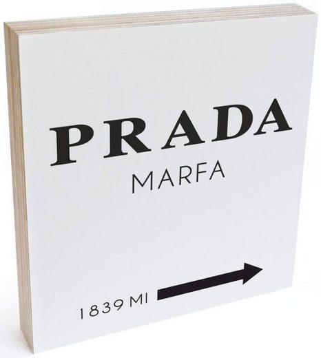 Wall-Art Holzbild »Tischdeko Prada Marfa Holzbild«, (1 Stück)