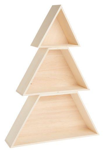 Rico-Design Verlag Dekoobjekt »Tannenbaum«, Holz-Set, 51 cm hoch