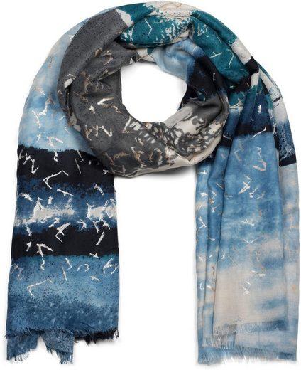 styleBREAKER Schal »Schal mit Batik Streifen Muster Metallic« Schal mit Batik Streifen Muster Metallic