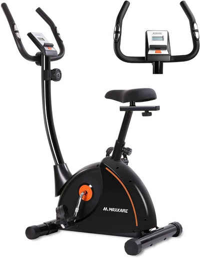 MaxKare Sitz-Heimtrainer »MK-4008«, MaxKare Heimtrainer Fahrrad Hometrainer Fahrrad mit verstellbarem Polstersitz und Magnetwiderstands-Pulsmonitor-Transporträdern und Tablet-Halter