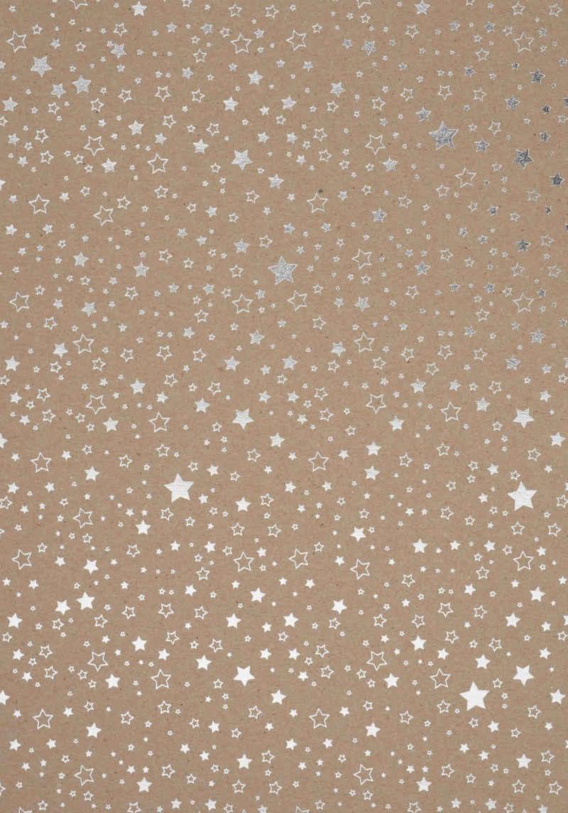 VBS Kraftpapier »Sterne«, 70 cm x 50 cm