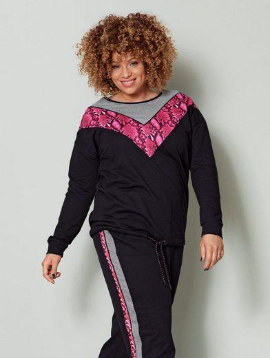 Angel of Style by Happy Size Sweatshirt mit Schlangendruck