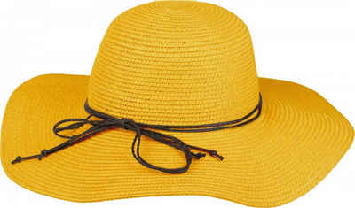 styleBREAKER Sonnenhut »Floppy Sonnenhut mit schmalem Zierband und Schleife« Floppy Sonnenhut mit schmalem Zierband und Schleife