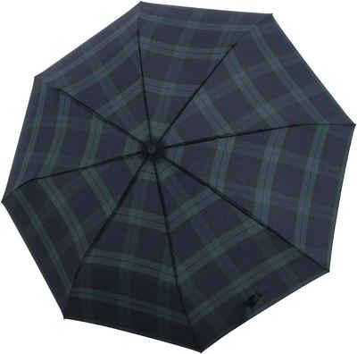 doppler® Taschenregenschirm »Carbonsteel Magic, Karo Schwarz«