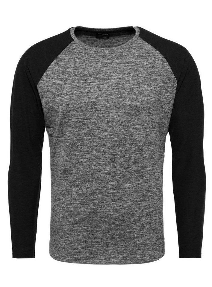 key largo -  Langarmshirt »MLS ERNIE« mit farblich abgesetzten Raglanärmeln