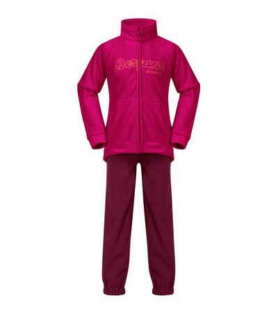 Bergans Regular-fit-Jeans »Bergans Smådøl Kids Set bestehend aus Jacke und Hose aus kuscheligem Fleece Lifestyle Pink«