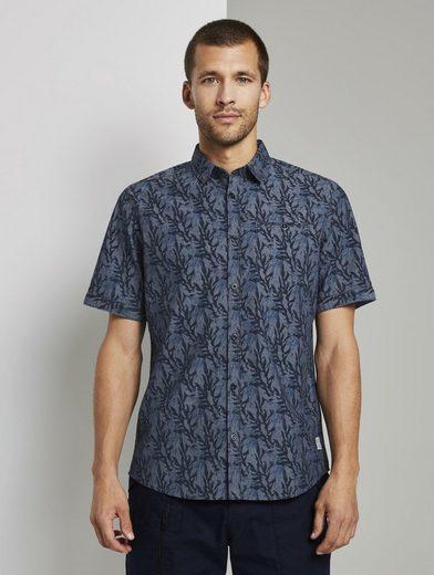 Schlussverkauf TOM TAILOR Kurzarmhemd »Gemustertes Hemd«