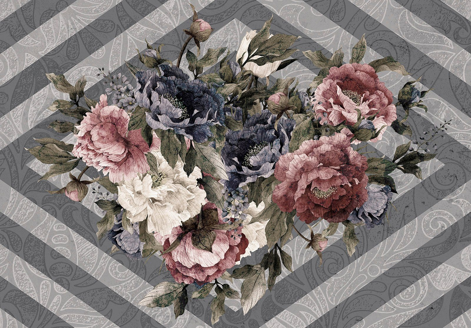 KPH Shining Flowers 36 Fotos 10x15 sort Minialbum softcover