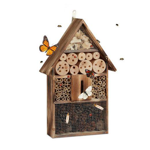 relaxdays Insektenhotel »Insektenhotel 50 cm groß«