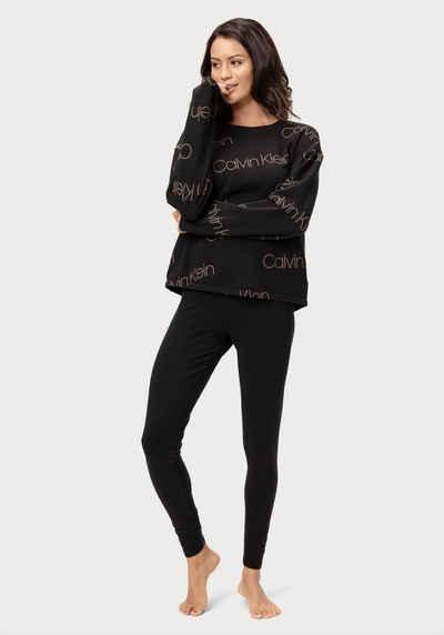 Calvin Klein Leggings mit aufgesetzter Tasche und eingewebtem Logo im Bund