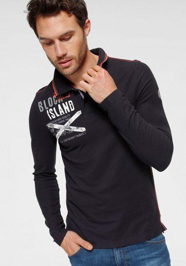 Rhode Island Langarm-Poloshirt mit vielen Details