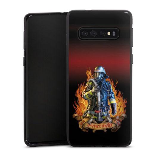 DeinDesign Handyhülle »Firefighter« Samsung Galaxy S10 Plus, Hülle Feuerwehrmann Feuerwehr Beruf