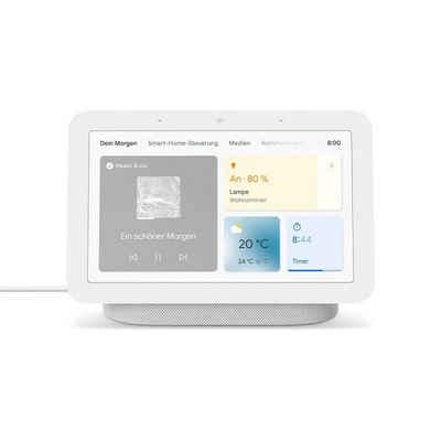 Google Google Nest Hub 2. Generation Smart Assistant Bluetooth Display Kreide Multiroom-Lautsprecher (WLAN (WiFi)