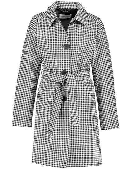 GERRY WEBER Outdoorjacke nicht Wolle »Mantel mit Vichy-Karo«