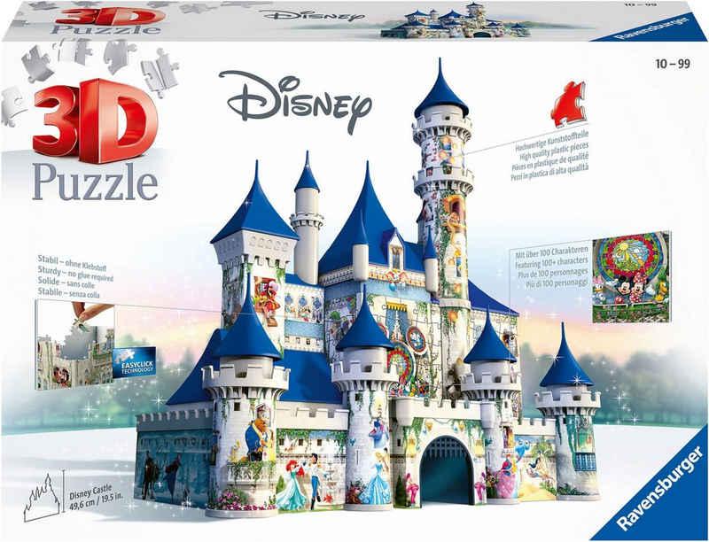 Ravensburger 3D-Puzzle »Disney Schloss«, 216 Puzzleteile, FSC® - schützt Wald - weltweit; Made in Europe