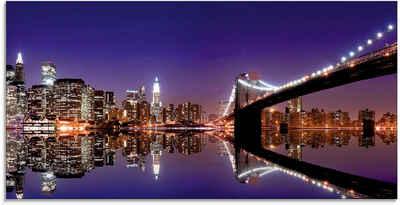 Artland Glasbild »New York Skyline«, Amerika (1 Stück)