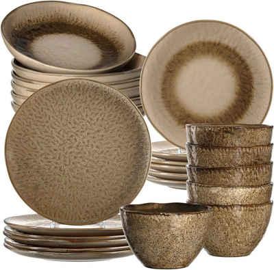 LEONARDO Kombiservice »Matera« (24-tlg), Keramik, rustikale Optik