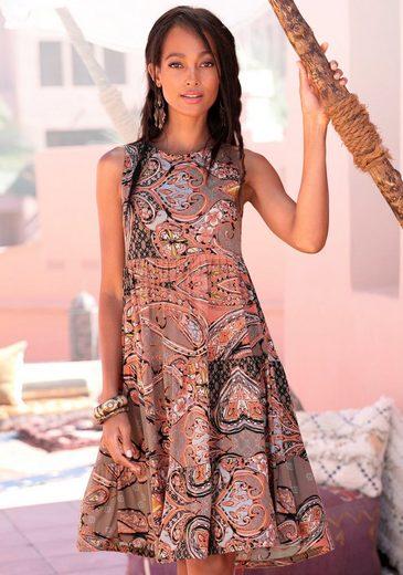 LASCANA Jerseykleid mit Paisleyprint