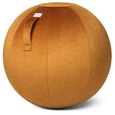 VLUV Sitzball »BOL VARM Stoff-Sitzball in Pumpkin, Ø 60cm-65cm, Samt-Möbelbezugstoff - robust, formstabil, mit Tragegriff und Bodenring«