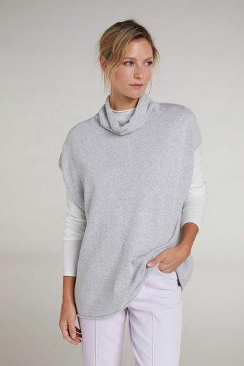 Oui Strickpullover »Pullover ohne Ärmel«