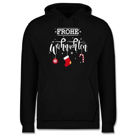 Shirtracer Hoodie »Frohe Weihnachten Lettering - Männer Premium Kapuzenpullover«