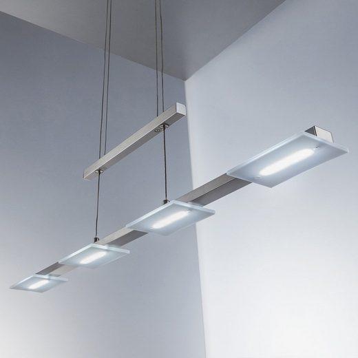 B.K.Licht LED Pendelleuchte »Gemma«, 4xEchtglas, Höhenverstellbar