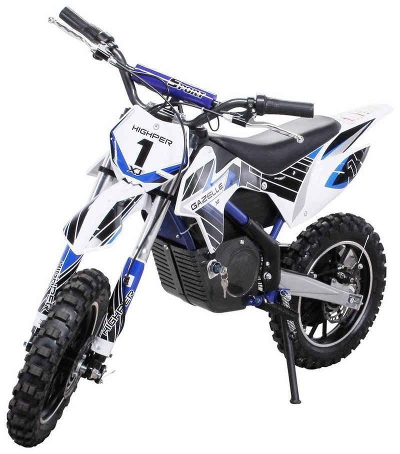 Actionbikes Motors Dirt-Bike »Gazelle«, 3 Gang, 3 Geschwindigkeitsstufen, Starker 500 Watt Elektromotor, Bis 15 Km Reichweite