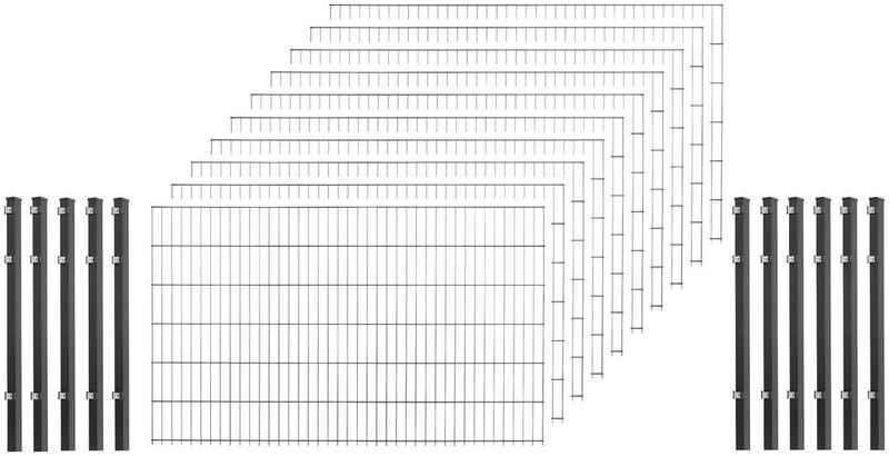 Arvotec Einstabmattenzaun, (Set), 83 cm hoch, 5 Matten für 10 m, 6 Pfosten