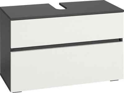 Home affaire Waschbeckenunterschrank »Wisla« Breite 80 cm, oben Klappe & unten großer Auszug