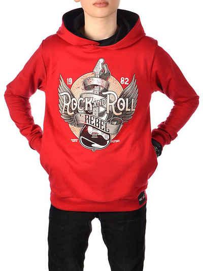 BEZLIT Hoodie »Jungen Kapuzen Pullover zweifarbig« (1-tlg) elastischer Bund
