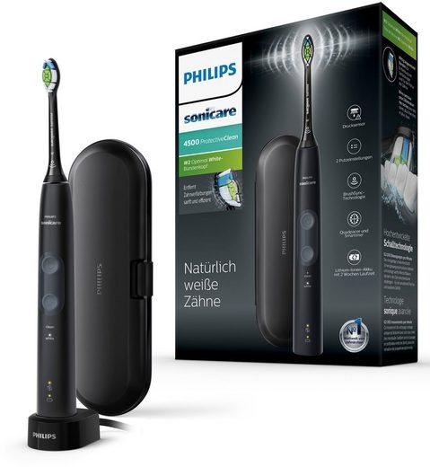 Philips Sonicare Elektrische Zahnbürste ProtectiveClean 4500 HX6830/53, Aufsteckbürsten: 1 St., mit Schalltechnologie, 2 Putzprogrammen, Reiseetui