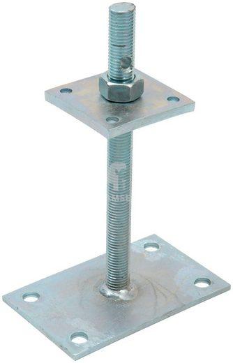 RAMSES Pfostenträger , aufschraubbar höhenverstellbar 80x 80x250 mm Stahl verzinkt