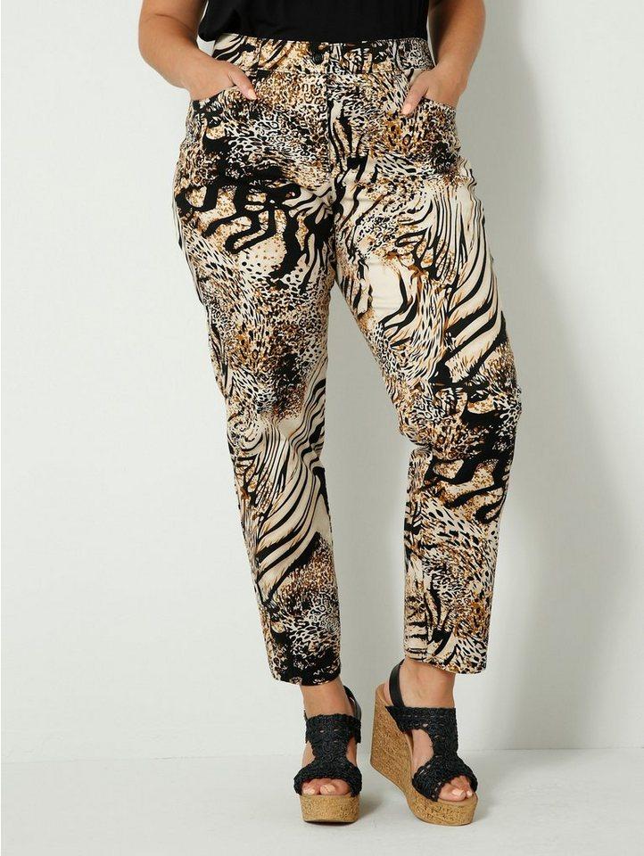 sara lindholm by happysize -  Stoffhose mit angesagtem Animal Print