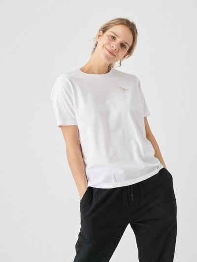 Cleptomanicx T-Shirt »Embroidery Gull« mit kleiner Möwen-Stickerei