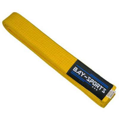 BAY-Sports Karateanzug »Budogürtel Karategürtel Kampfsportgürtel gelb«, Judogürtel, Taekwondogürtel, Länge 160 cm - 350 cm